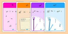 Units of Time Display Posters Urdu