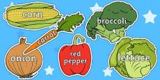 Vegetable Words On Vegetables