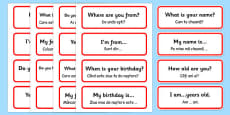 Basic Phrases Word Cards Romanian Translation