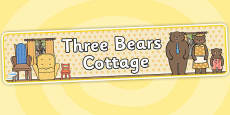 Three Bears Cottage Role Play Banner