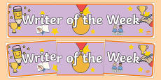 Writer of the Week Banner