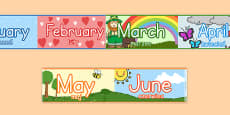 Months of the Year Display Borders Polish Translation