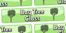 Bay Tree Themed Classroom Display Banner