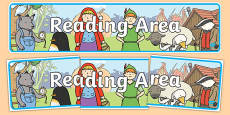 Reading Area Display Banner