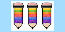Problem Solving Pencil Bookmark or Visual Aid