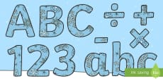 Winter Display Lettering & Symbols (Snowflakes)