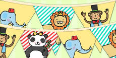 Animal Themed Birthday Party Picture Bunting