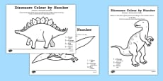 Dinosaurs Colour by Number Polish Translation