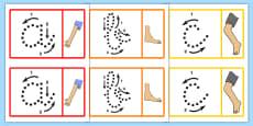 Tarjetas de exposición de formación de letras - Mi cuerpo