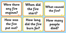 The Great Fire of London Question Cards
