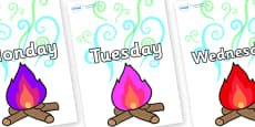 Days of the Week on Magic Fire