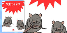 Splat a Rat Poster (School Fair)