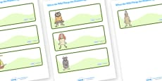 Editable Drawer-Peg-Name Labels to Support Teaching on Where the Wild Things Are