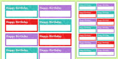 100th Birthday Party Name Tags