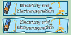 Electricity and Electromagnetism Display Banner