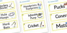 Marula Themed Editable PE Resource Labels
