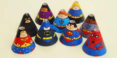 Superhero Cone Characters