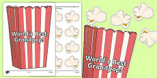 World's Best Grandpop Activity Sheet