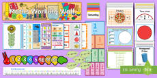 Year 1 Maths Working Wall Display Pack