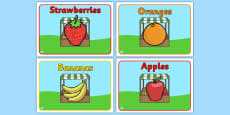Editable Class Group Signs (Fruit)