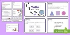 * NEW * KS1 Maths Hint Cards