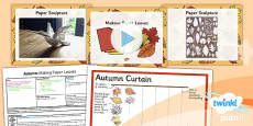 Art: Autumn: Making Paper Leaves LKS2 Lesson Pack 4