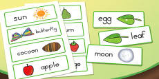 Australia - Word Cards to Support Teaching on The Very Hungry Caterpillar