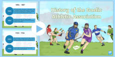 History of the GAA Timeline PowerPoint