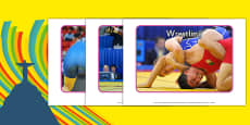 The Olympics Wrestling Display Photos