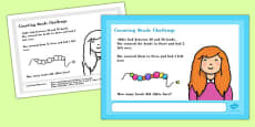 A4 Counting Beads Maths Challenge Poster