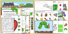 Childminder Resource Pack to Support Teaching on The Very Hungry Caterpillar