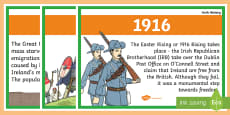 Basic Irish History Timeline Posters A4