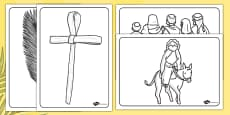 Palm Sunday Colouring Sheets