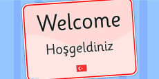 Welcome Sign EAL Turkish Version