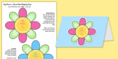 Mother's Day Flap Flower Card Arabic Translation