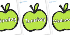 Days of the Week on Apples