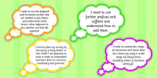 LKS2 Years 3 and 4 Writing Assessment I need to Thought Bubbles Composition