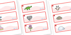 Poppy Themed Editable Drawer-Peg-Name Labels