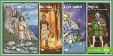 Irish Celtic Gods Display Posters