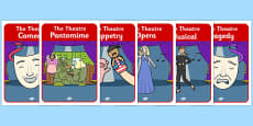 The Theatre Genre Role Play Posters