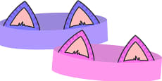 Role Play Cheshire Cat Ear Templates