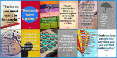 Maths Quotes Motivational Display Poster Pack