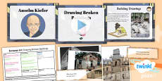 Art: European Art: Drawing Broken Buildings LKS2 Lesson Pack 1
