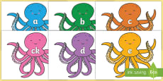 Phoneme Set on Octopus to Support Teaching on The Rainbow Fish