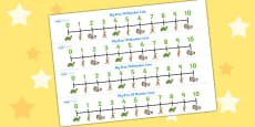 The Tortoise and The Hare Number Lines 0-10