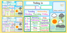 Date and Weather Daily Interactive Activity Flipchart