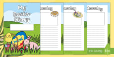My Easter Holiday 7 Day Diary Activity Sheets
