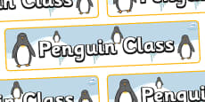 Penguin Themed Classroom Display Banner