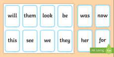 Phase 3 High Frequency Words Flashcards
