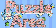 Puzzle Area Display Lettering